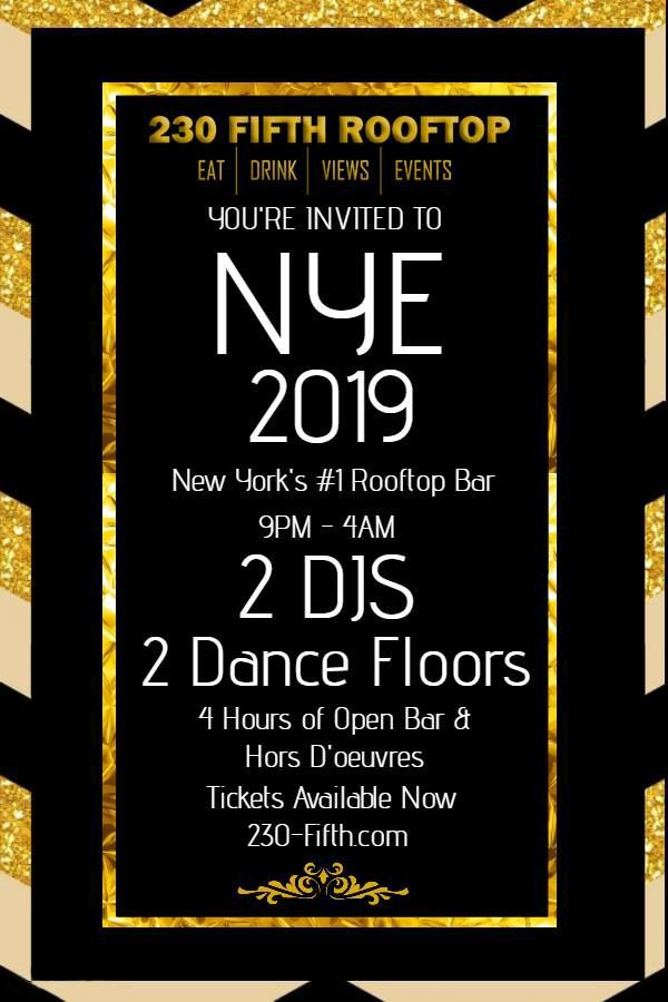 Celebrate New Year's Eve at 230 Fifth Rooftop Bar