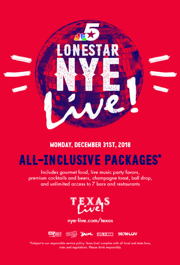 Lonestar New Year's Eve at Texas Live!