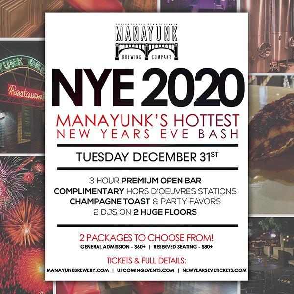 NYE 2020 - Manayunk's Hottest New Year's Eve Bash!