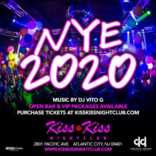 New Year's Eve in Atlantic City at Kiss Kiss Nightclub