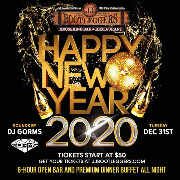 New Years Eve 2020 at JJ Bootlegger's