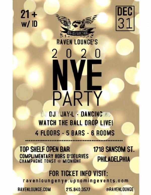 New Year's Eve 2020 Celebration at Raven Lounge