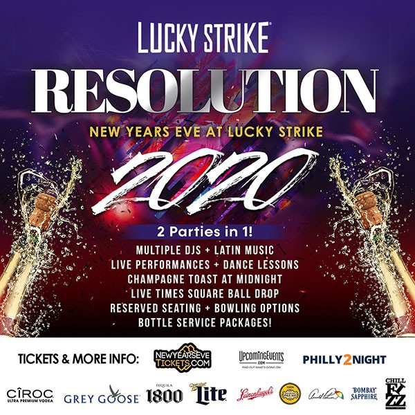 RESOLUTION 2020 - New Year's Eve at Lucky Strike