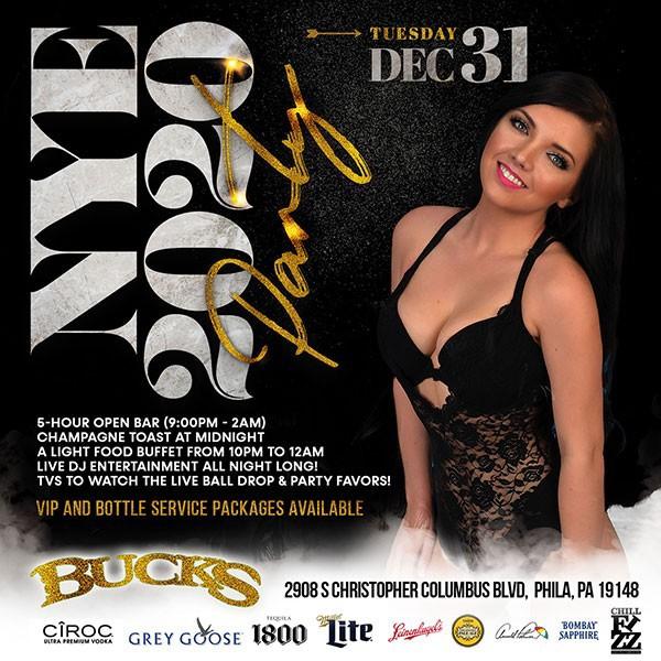New Year's Eve 2020 at Bucks Cabaret