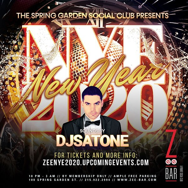 New Year's Eve 2020 Bash at Zee Bar!