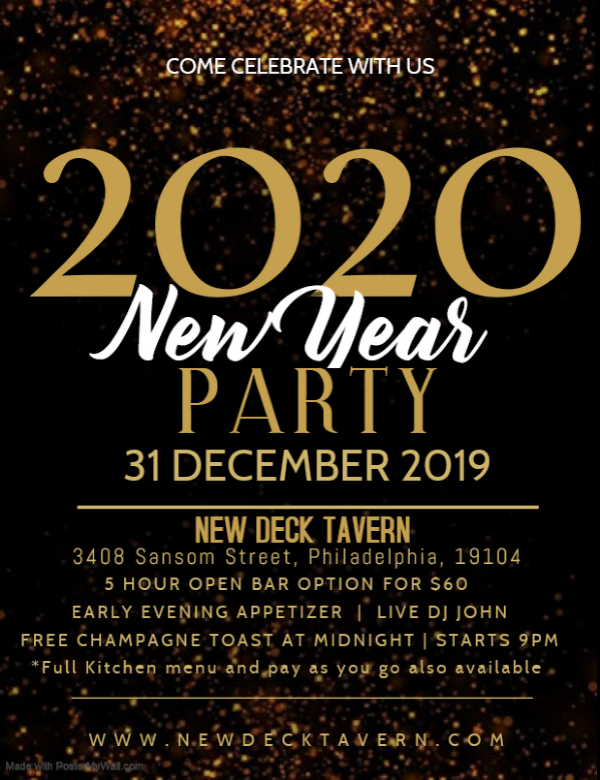 New Year's Eve 2020 at the New Deck Tavern