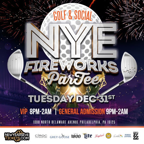 NYE 2020 Fireworks Par-TEE at Philly Golf & Social