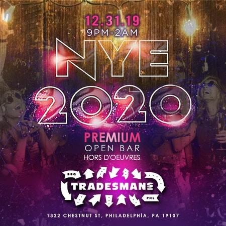NYE 2020 at Trademan's