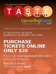 TASTE of Philly - The 6th Annual Culinary Sampling Experience!