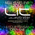 New Year's Eve Philly 2013 at Lit UltraBar!