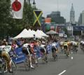 The Philadelphia International Championship Bike Race in Manayunk