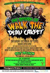 Walk the Dead Carpet at Finnigan's Wake