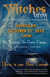 Witches Brew - Halloween Night Costume Party at The Manayunk Brewery
