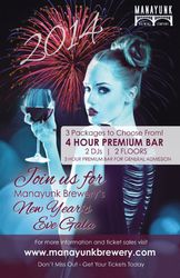 New Year's Eve at The Manayunk Brewery!