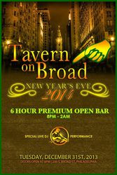 New Year's Eve 2014 at Tavern on Broad