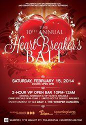 10th Annual Heartbreaker's Ball at Whisper