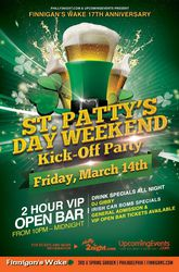 17th Annual St. Patty's Day Philly Weekend Kick-Off Party