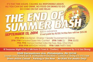 The End of Summer Bash
