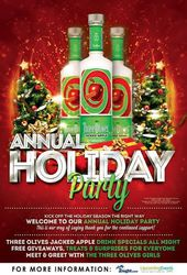 Three Olives Jacked Apple Holiday Party at Bourbon Blue!