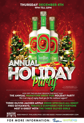 Three Olives Jacked Apple Holiday Party at Manayunk Brewery!