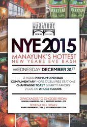 NYE 2015 - Manayunk's Hottest New Years Eve Bash!