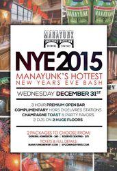 NYE 2015 - Manayunk's Hottest New Years Eve Bash!