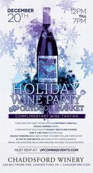 Chaddsford Holiday Wine Party & Outdoor Market