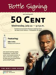 Effen Vodka Bottle Signing & Tasting with 50 Cent
