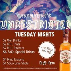 Cavanaugh's Tuesday Nights!