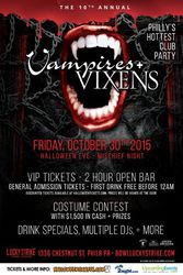 10th Annual Vampires + Vixens Halloween Party