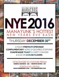 NYE 2016 - Manayunk's Hottest New Years Eve Bash!