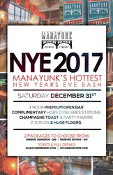 NYE 2017 - Manayunk's Hottest New Years Eve Bash!