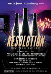 RESOLUTION 2017 - New Year's Eve at Lucky Strike