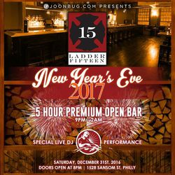 New Years Eve 2017 at Ladder 15!
