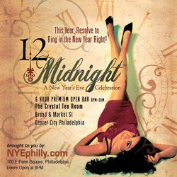12Midnight - New Year's Eve at The Crystal Tea Room!
