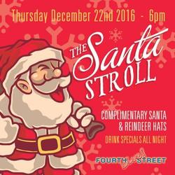 The Santa Stroll at 4th Street Live!