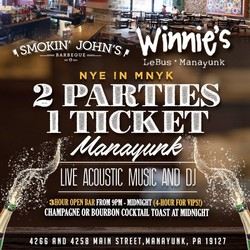 New Year's Eve in Manayunk - 2 Parties, 1 Ticket
