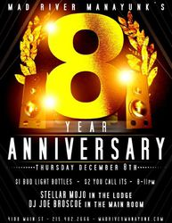 Mad River Manayunk's 8 Year Anniversary