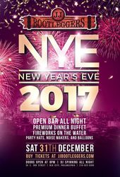 New Years Eve 2017 at JJ Bootleggers