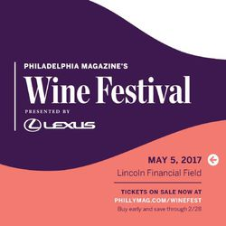 Philadelphia Magazine's Wine Festival - Presented by Lexus