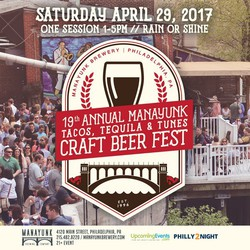 19th Annual Manayunk Tacos, Tequila, and Tunes Craft Beer Fest
