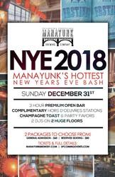 NYE 2018 - Manayunk's Hottest New Year's Eve Bash!
