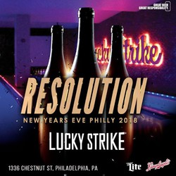 RESOLUTION 2018 - New Year's Eve at Lucky Strike