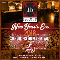 New Years Eve 2018 at Ladder 15!