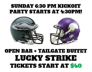 Eagles vs Vikings Playoff Viewing Party - Lucky Strike
