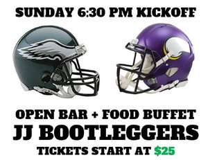 Eagles vs Vikings Playoff Viewing Party - JJ Bootleggers