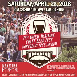 20th Annual Manayunk Craft Beer and Rum Festival