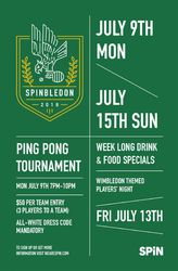 SPiNBLEDON: Ping Pong Tournament Hosted by SPiN Philadelphia