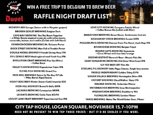 Philly Loves Beer - Win a Free Trip to Belgium - Ticket Raffle