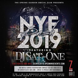 New Year's Eve 2019 Bash at Zee Bar!